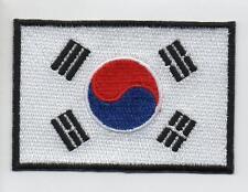 Embroidered SOUTH KOREA Flag HIGH QUALITY APPLIQUE ( LARGE 7.5CM )