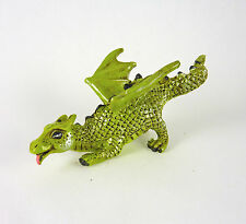 Dollhouse Miniature Teal Dragon with Ice Cream 17563