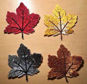 Ahornblatt Aufnäher / Aufbügler maple leaf patch Blätter Applikation Ahorn Blatt