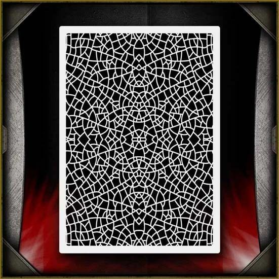 """Leaf Pattern 2"" Airbrush Stencil Template Airsick"
