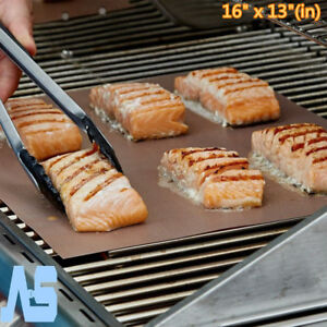 2-Pcs-Nonstick-Kitchen-Copper-Chef-Grill-Bake-Mats-BBQ-Grill-Mat-Barbecue-Pad-WR