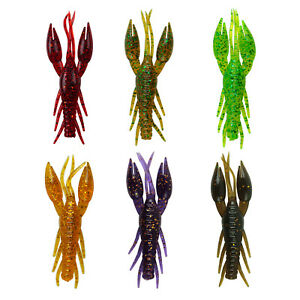 8 Piece Artificial Crayfish Lobster Floating Saltwater Soft Fishing Bait Lure