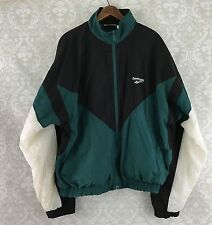 veg REEBOK Windbreaker Jacket Zip Up L color block 80s 90s