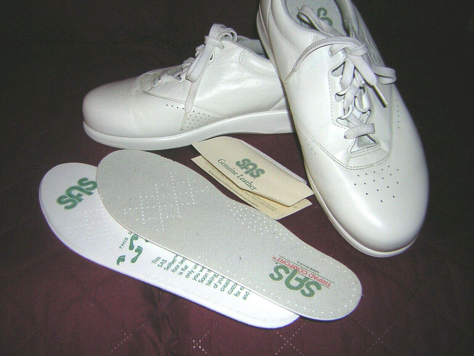 Womens SAS White WorkDutyCareer WorkDutyCareer WorkDutyCareer shoes Size 11WW w Xtra Soles&Laces  VGUC 6f374b