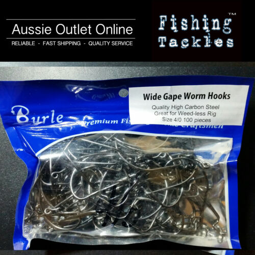 Wide Gape Work Hooks Size 40 High Carbon Steel Qty 100 Aussie Outlet Online