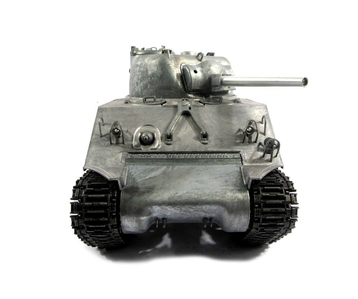 1 16 Mato US M4A3 Sherman 75mm RC RC RC Tank 2.4GHz Infrared 100% Metal color Pro 93eaf4