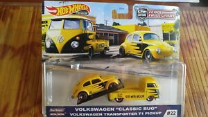 PREMIUM HOT WHEELS 2020 VW CLASSIC BUG & TRANSPORTER T1 PICKUP MOON EYES #22