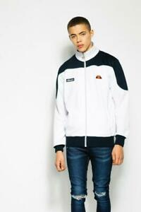 Ellesse-Men-s-Track-Top-Jacket-Zip-Bordoni-White-Blue
