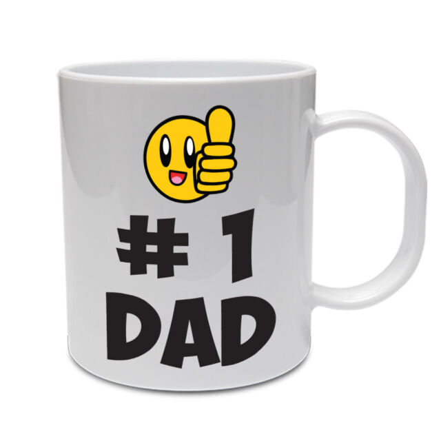 HASHTAG NUMBER ONE DAD - Father / Daddy / Novelty / Funny Themed Ceramic Mug