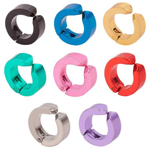 Fashion Titanium Steel Magnetic Clip No Piercing Charm Hoop Earrings