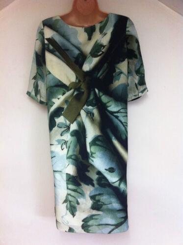 John New Multi Size M jurk zijden Rose S Lewis Real rqwvTrp