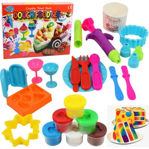 Create Your Own Play Dough Food Set Cupcake Cake Mould Tubs Doh Clay Set