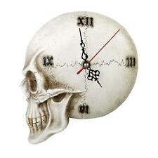 Alchemy The Vault Gothic Skull Wall Clock Decorative Skeleton Home Decor V32