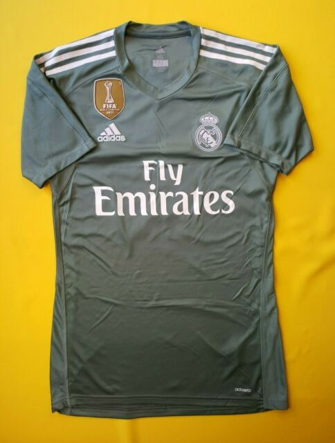 d61ebb0ea 4.9 5 Real Madrid authentic jersey XS 2018 goalkeeper shirt B31100 Adidas  ig93