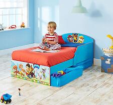 Hübsches Kinderbett mit Unterbettkommode - Modell Paw Patrol