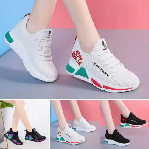 .Womens Sport Running Gym Athletic Sneakers Walking Casual Platform Flat Shoes.