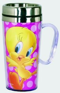 Looney Tunes Acrylic & Stainless Steel Travel Mug with Handle Tweety Bird