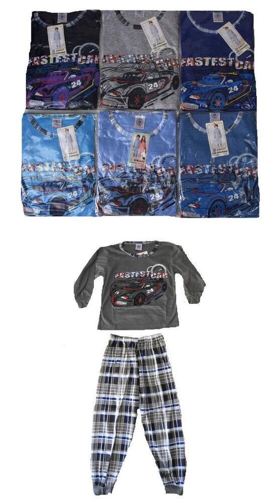 Actif Enfants Pyjama Neuf Garçons Pyjama Garçons Pyjama 2 Pièces Enfants Pyjama Voiture PréParer L'Ensemble Du SystèMe Et Le Renforcer