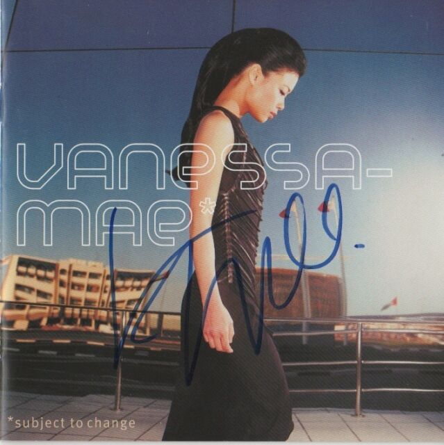 """Vanessa Mae Autogramm signed CD Booklet """"Subject To Change"""""""
