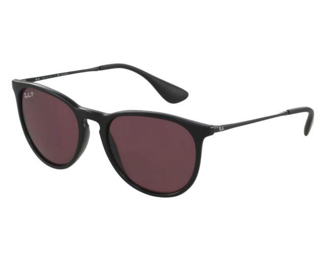 POLARIZED NEW Genuine Ray-Ban ERIKA Black Purple Pilot Sunglasses RB 4171 601/5Q