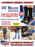 35 Below Socks 2 Pairs Black Size Large As Seen On Tv Usa Seller - Free Ship