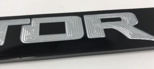 2011-2018 Ford SVT Raptor Pickup Truck Black Engraved License Plate Frame