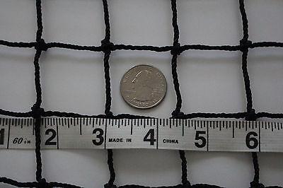 "Golf 16' X 8' Heavy Duty Black Square Nylon Netting 1 1/2"" #30 Strenght 300 Lbs"