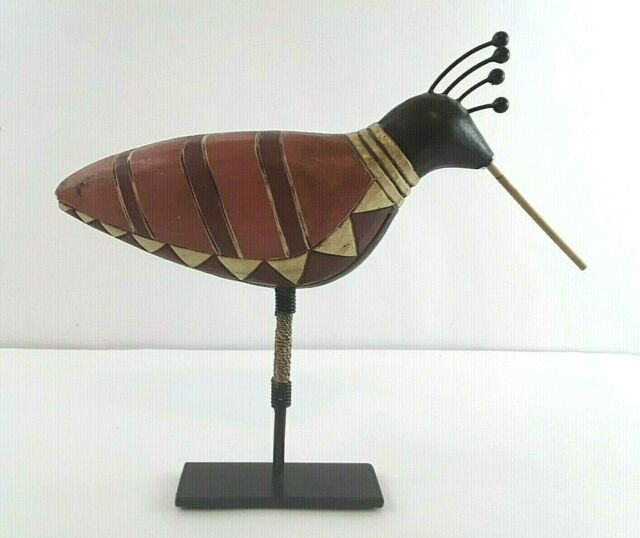 Small Rustic Pileated Woodpecker Metal Tin Bird Figure