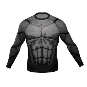 HighType Honey Badger Black Long Sleeve Rash Guard BJJ MMA Fightwear