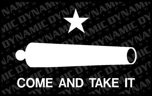 Come and Take it Flag Molon Labe NRA Patriotic Vinyl window sticker pro gun 2nd