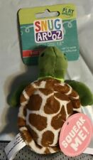 """Snugarooz Baby Shelldon The Turtle 5"""" Plush Crinkle Squeaker Toy for Dogs Pups"""