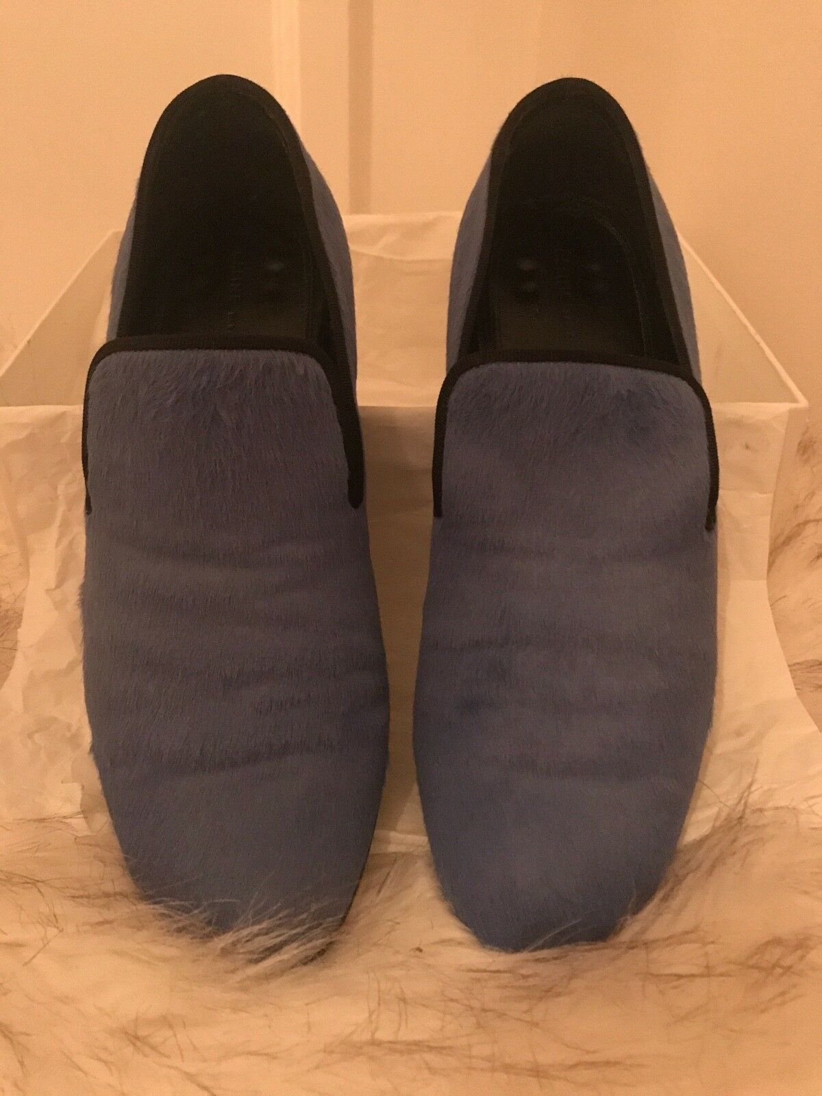 CELINE Blau pony hair loafers/flats great EU 36/37, UK 3/4, great loafers/flats condition with box b7602f
