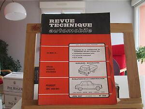 REVUE-TECHNIQUE-AUTOMOBILE-N-254-JUIN-1967-TBE-PEUGEOT-204-VOLKSWAGEN-1500-1600