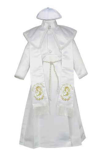 Boy Baby Toddler Christening Baptism Pope Virgin Mary Guadaloupe Stole Gown Suit