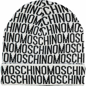 Moschino White &Amp; Black Wool Beanie, One Size Adult by Ebay Seller