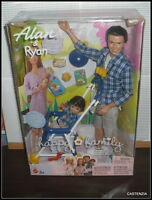 Ken Mattel 2002 Happy Family Dad Alan & Son Ryan Dolls Stroller Accessory