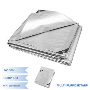Silver-Heavy-Duty-Multi-purpose-Waterproof-Poly-Tarp-Cover-Tent-Shelter-Camping