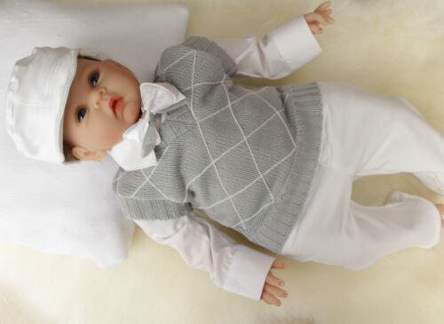 Bébé garçon baptême mariage tenue de soirée gris nouveau-né 12 m tank top bodyshirt
