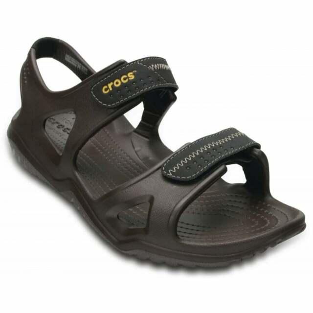 ee20ce56ddb Men s Shoes Sandals Crocs Swiftwater River 203965 Espresso UK M9 for ...