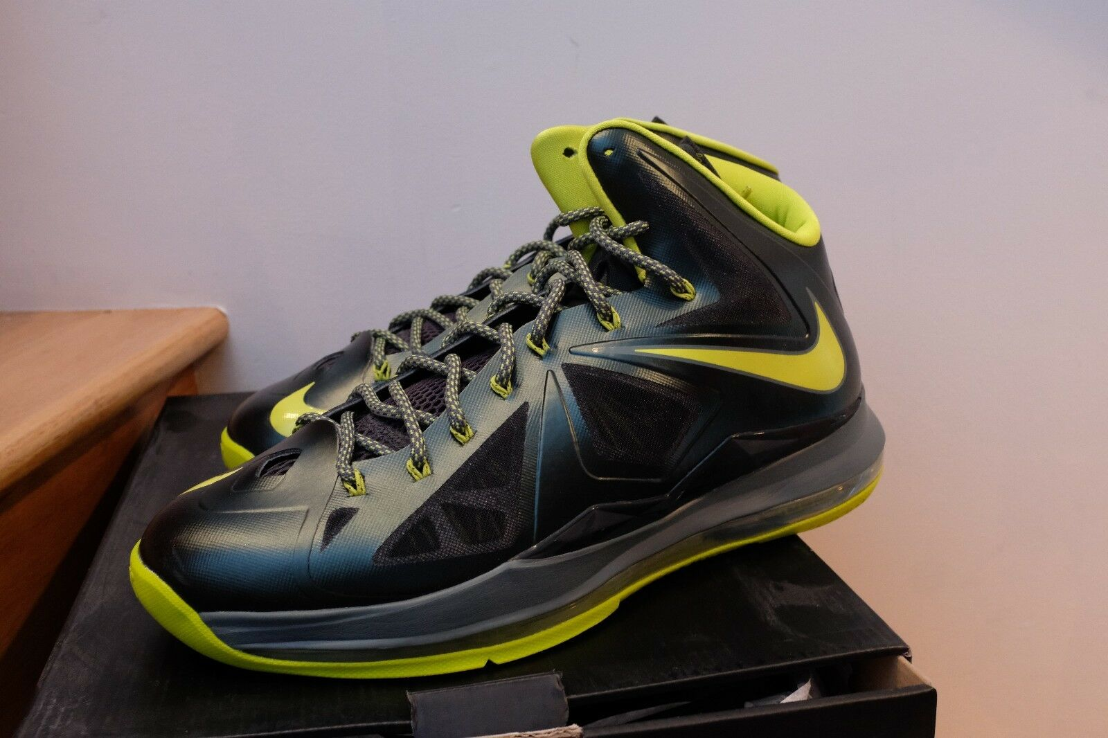 Nike Lebron X 10 Dunkman Atomic Green Seaweed Air Max size 13