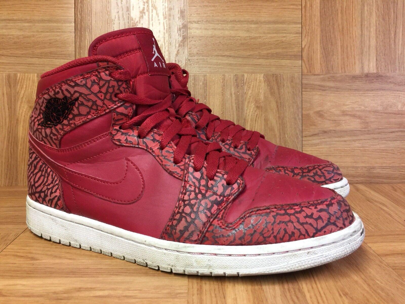 RARE? Nike Air Jordan 1 Retro High Gym Red Elephant Print Sz 10.5 839115-600 LE
