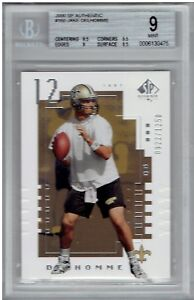 Jake-Delhomme-2000-SP-Authentic-160-Rookie-Card-RC-Beckett-Mint-9