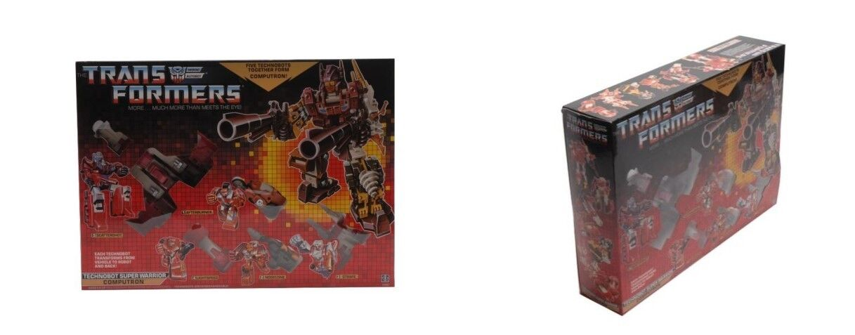 TECHNOBOT SUPER WARRIOR COMPUTRON Transformers REISSUE Christmas Gift
