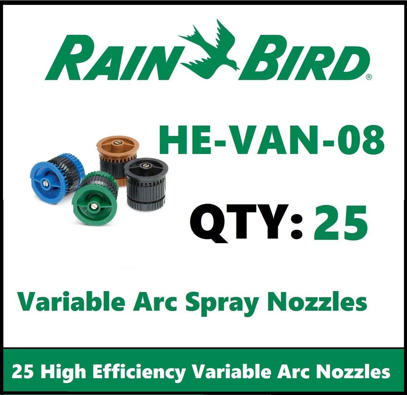 Rain Bird HE-VAN-12 High Efficiency Variable Adjustable Arc Nozzles 12 ft 0-360°