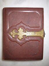 Leeres kleines Album für 26 CDV - Hartpappe-Photos - ca. 1870/80er Jahre