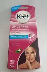 Veet Face Wax Strips Ready To Use Hair Remover 12 Wax Strips 2