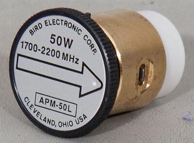 43 Type Bird APM-16 Thruline WattMeter Element 50W APM-50L 1700-2200MHz