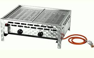 activa gastrobr ter gas grill 10kw 2 flammig br ter m grillrost bbq gastronomie ebay. Black Bedroom Furniture Sets. Home Design Ideas