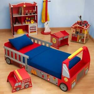 check out 9a606 38363 KidKraft Fire Truck Toddler Bed 76021