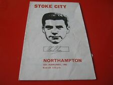 NORTHAMPTON TOWN  first division  1965/66 V STOKE CITY RARE PROGRAMME